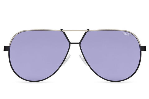Quay Supernova Black Silver / Purple Sunglasses