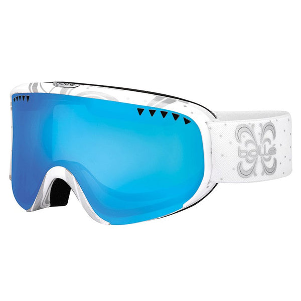 Bolle - Scarlett Shiny White Night PC Modulator Snow Goggles / PC Modulator Vermillion Blue Lenses