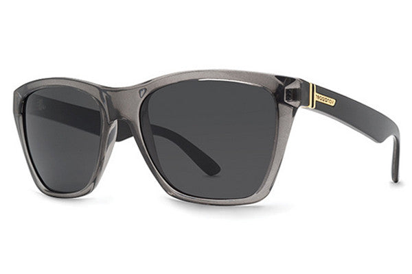 VonZipper - Booker Grey Black Crystal GYG Sunglasses, Grey Lenses