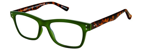 Scojo New York - Gels BluLite Bookman Amazon Green Reader Eyeglasses / +0.50 Lenses
