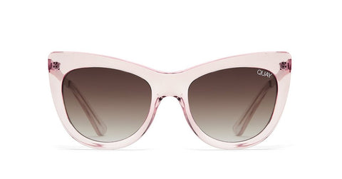 Quay Steal A Kiss Pink Sunglasses / Brown Lenses