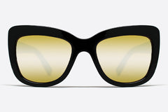 Quay Breath Of Life Black / Gold Mirror Sunglasses