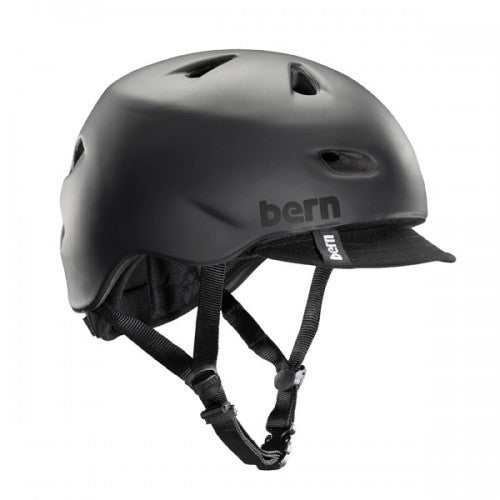 Bern - Brentwood Matte Black With Flip Visor Bike Helmet