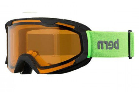 Bern - Brewster X Neon Green Goggles, Orange Lenses