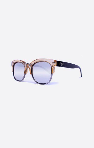 Quay Bronx Coffee / Silver Sunglasses