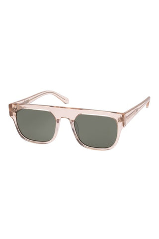 Karen Walker Monumental - Burroughs Vintage Clear Sunglasses / Green Mono Lenses