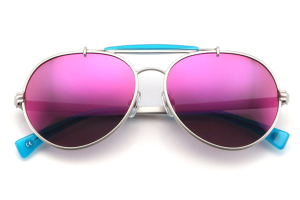 Wildfox - Goldie Deluxe Silver & Turks Sunglasses