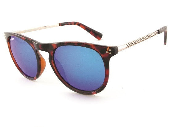 Peppers - Reaction Tortoise Sunglasses, Blue Mirror Lenses