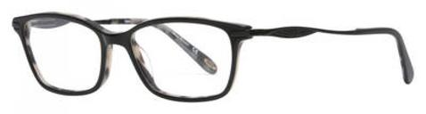 Emozioni - 4051 53mm White Black Spotted Eyeglasses / Demo Lenses