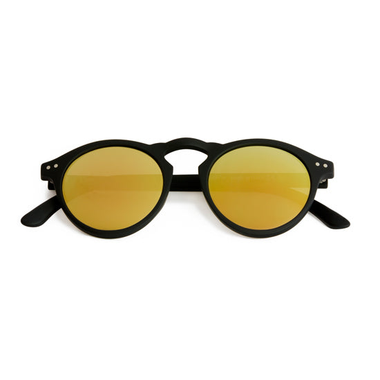 Spektre - Cavour Matte Black Sunglasses / Gold Mirror Lenses