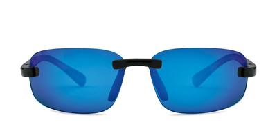 Kaenon - Coto S Black Sunglasses / Grey 12 Pacific Blue Mirror Lenses