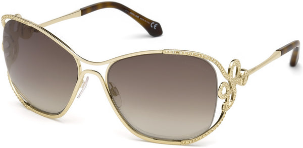 Roberto Cavalli - RC1074 Lajatico Gold Sunglasses / Brown Mirror Lenses
