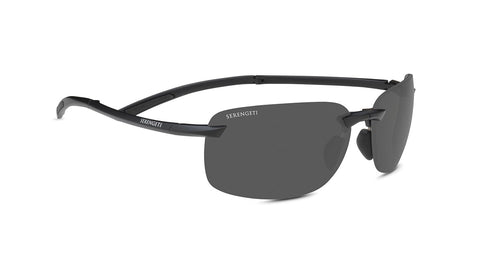 Serengeti - Ceriale Matte Black Sunglasses / PhD 2.0 Polarized CPG Grey Lenses
