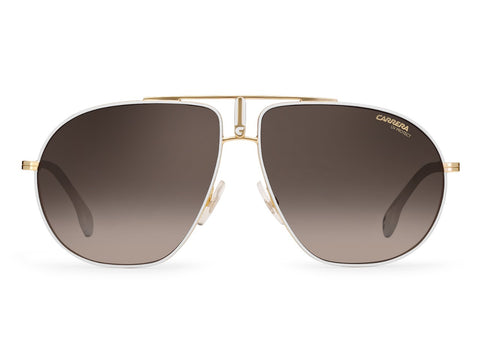 Carrera - Bound White Gold Sunglasses / Brown Gradient Lenses
