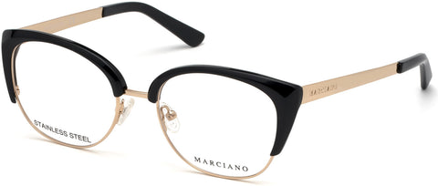 Marciano - GM0334 Shiny Black Eyeglasses / Demo Lenses