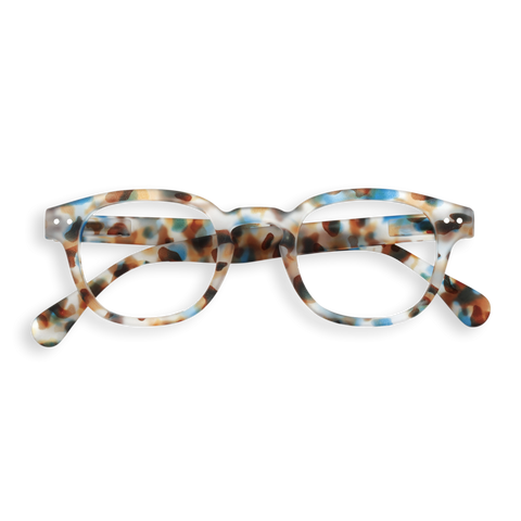 Izipizi - #C Blue Tortoise  Eyeglasses / Screen Blue Light Clear +1.00 Lenses