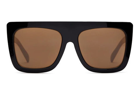 Quay Cafe Racer Black / Brown Sunglasses