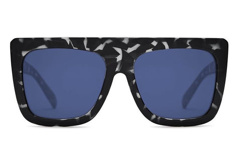 Quay Cafe Racer Black Tortoise / Blue Sunglasses