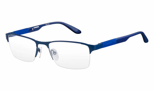 Carrera - Ca 8821 53mm Matte Blue Eyeglasses / Demo Lenses