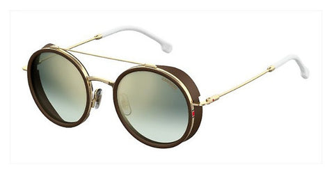 Carrera - 167 S Gold White  Sunglasses / Green Silver Mirror Lenses