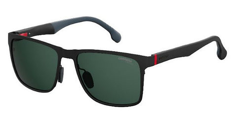Carrera - 8026 S Matte Black Sunglasses / Green Lenses