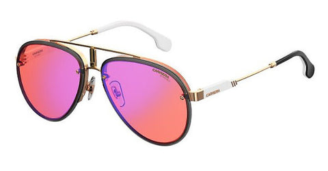 Carrera - Glory Gold Red Sunglasses / Red Mirror Lenses