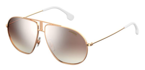 Carrera - Bound Gold Copper Sunglasses / Brown Mirror Gradient Lenses