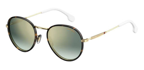 Carrera - 151 S Gold White Sunglasses / Green Silver Mirror Lenses