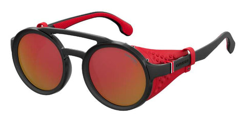 Carrera - 5046 S Black Ruthenium Crystal Red Sunglasses / Red Mirror Lenses