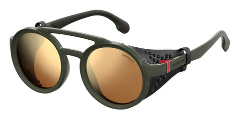 Carrera - 5046 S Matte Green Military Sunglasses / Brown Gold Lenses