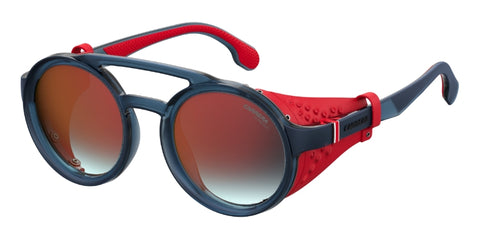 Carrera - 5046 S Matte Black Blue Sunglasses / Red Mirror Lenses