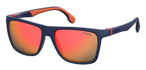 Carrera - 5047 S Matte Blue Sunglasses / Orange Flash Lenses