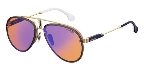 Carrera - Glory Gold Orange Sunglasses / Orange Blue Mirror Lenses
