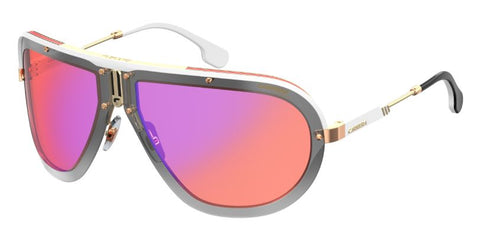 Carrera - Ca Americana Gold Orange Sunglasses / Orange Flash Lenses
