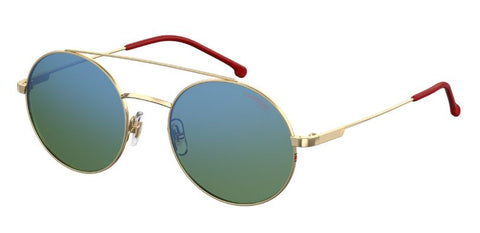 Carrera - 2004T S Gold Red Sunglasses / Green Blue Mirror Lenses