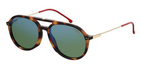 Carrera - 2005T S Dark Havana Sunglasses / Green Blue Mirror Lenses
