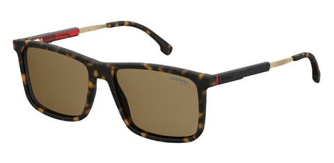 Carrera 8026 S Matte Black Sunglasses / Green Lenses