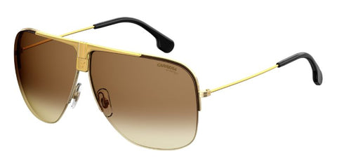 Carrera - 1013 S Yellow Gold Sunglasses / Black Brown Green Lenses