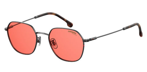 Carrera - 180 F S Red Havana Ruthenium Sunglasses / Red Mirror Lenses