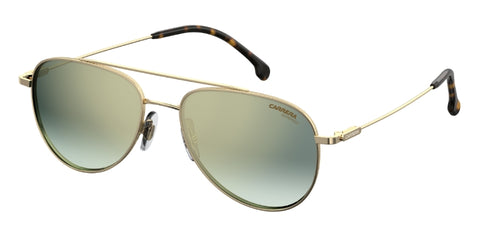 Carrera - 187 S Gold Havana Sunglasses / Green Silver Mirror Lenses