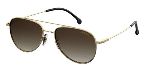 Carrera - 187 S Gold Sunglasses / Brown Gradient Lenses