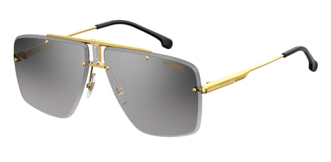 Carrera - 1016 S Gold Black Sunglasses / Gray Mirror Shaded Silver Lenses