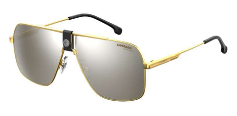 Carrera - 1018 S Gold Black Sunglasses / Silver Mirror Lenses