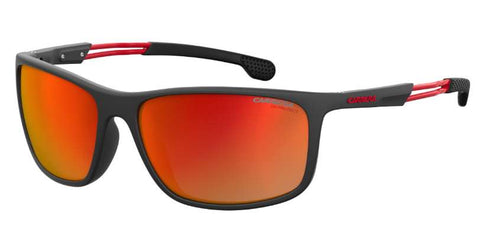 Carrera - 4013 S Black Ruthenium Crystal Red Sunglasses / Red Mirror Lenses