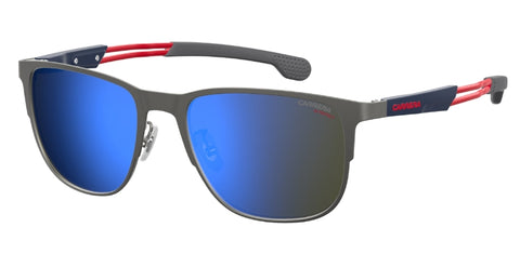 Carrera - 4014 GS Semi Matte Dark Ruthenium Sunglasses / Blue Sky Mirror Lenses