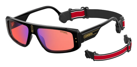 Carrera - 1022 S Black Yellow Sunglasses / Red Mirror Lenses