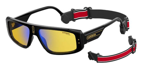 Carrera - 1022 S Black Red Gold Sunglasses / Yellow Lenses