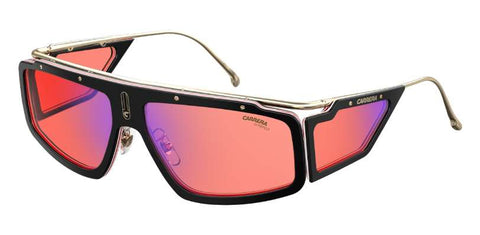 Carrera - Facer Black Havana Sunglasses / Red Mirror Lenses