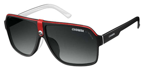 Carrera - 33 S Black Crystal White Sunglasses / Gray Gradient Lenses