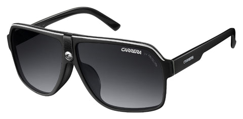 Carrera - 33 S Black Crystal Gray Sunglasses / Dark Gray Gradient Lenses